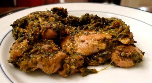 Цыпленок со шпинатом