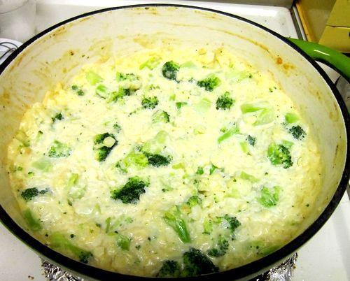 Сырная запеканка с рисом и брокколи