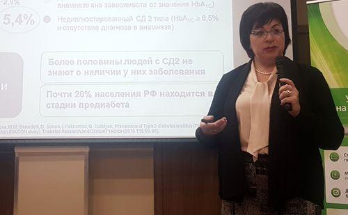 Эндокринолог Елена Лебедева  в Ульяновске выступила с докладом о лечении сахарного диабета второго типа